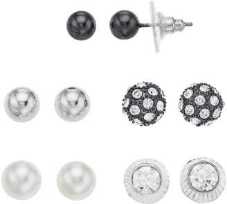 Apt. 9 Simulated Pearl & Simulated Crystal Stud Earring Set