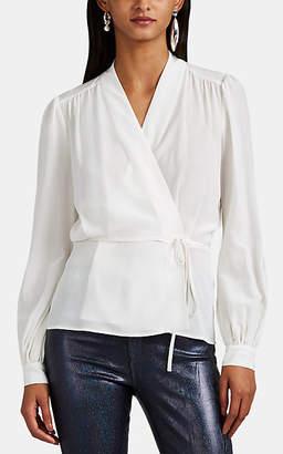 L'Agence Women's Cara Silk Wrap Blouse - Ivorybone