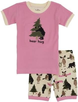 Hatley Little Blue House By Little Girls Short P.J. Set-Bear Hug