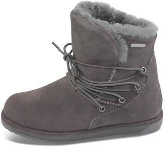 Emu Australia Charcoal Flat Boot $191 thestylecure.com