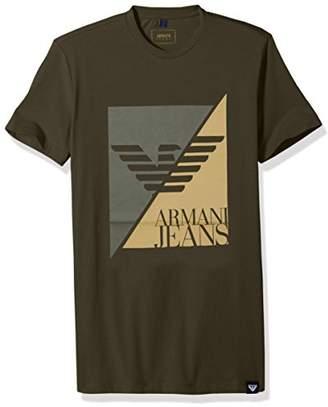 Armani Jeans Men's Split Eagle Logo T-Shirt