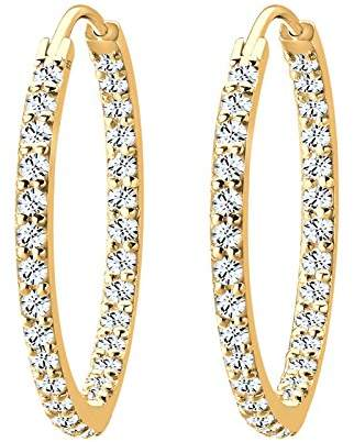 Goldhimmel Women's 925 Sterling Silver Xilion Cut Crystal Earrings