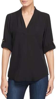 Calvin Klein V-Neck Roll-Sleeve Top
