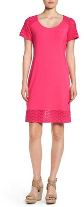 Women's Tommy Bahama 'Tambour' Eyelet Sleeve Shift Dress $128 thestylecure.com