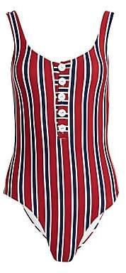 Onia Women's Sandra One-Piece Striped Swimsuit