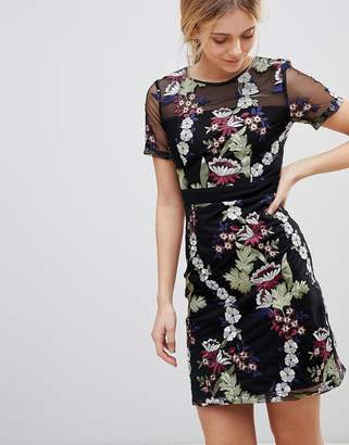 Girls On Film Floral Embroidered Mini Dress