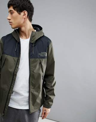 The North Face 1990 Mountain Q Jacket Hooded Waterproof 2 Tone In Green/Black