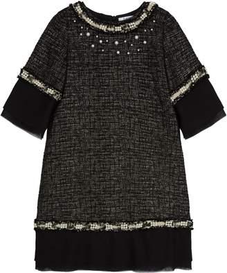 Lesy Tweed Embellished Dress