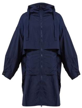 adidas by Stella McCartney Oversized Hooded Technical Jacket - Womens - Dark Blue