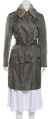 Dolce & Gabbana Mink-Trimmed Trench Coat