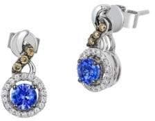 LeVian 14K Vanilla Gold & Blueberry Tanzanite Earrings