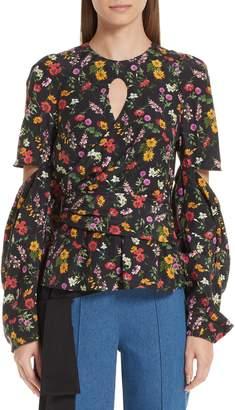 Hellessy Celeste Silk & Cotton Cutout Blouse