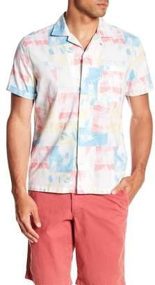 Original Penguin Short Sleeve Reverse Beach Cam Classic Fit Shirt