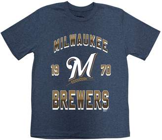 Stitches Boys 8-20 Milwaukee Brewers Basic Tee