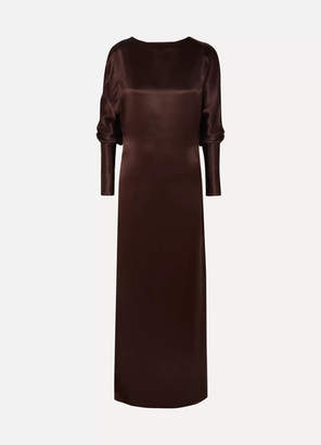 Albus Lumen - Alma Silk-satin Maxi Dress - Brown
