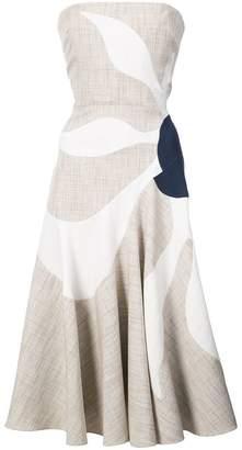 Roksanda strapless flower print dress
