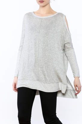 A.Gain Grey Tunic Top
