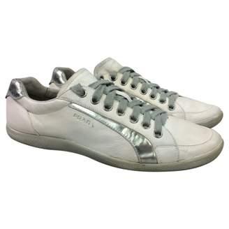 Prada Leather low trainers