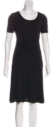 Halston Short Sleeve Knee-Length Dress