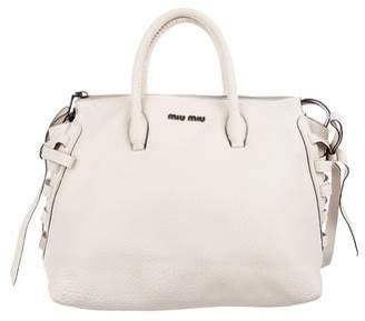 Miu Miu Lace-Up Shopping Tote