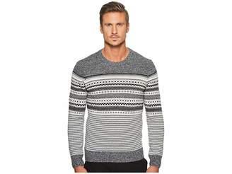 Original Penguin Long Sleeve Engineered Fair Isle Holiday Crew Sweater Men's Sweater