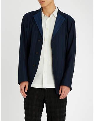 Issey Miyake Regular-fit textured cotton blazer