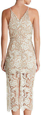 Dress the Population Marie Crocheted Lace Cocktail Dress