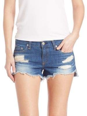 Rag & Bone Cut-Off Distressed Denim Shorts