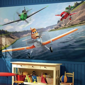 York Wall Coverings York Wallcoverings Disney's Planes Removable Wallpaper Mural