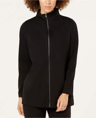 Eileen Fisher Ponte Stand-Collar Zip-Up Jacket, Regular & Petite