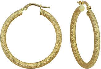 FINE JEWELRY 14K Yellow Gold Glitter Hoop Earrings