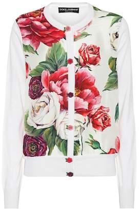 Dolce & Gabbana Floral-printed silk cardigan