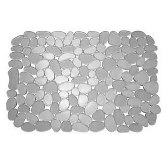 InterDesign Pebblz Sink Protector Mat – Stainless Steel Sinks – Graphite
