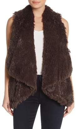 Wit & Wisdom Draped Faux Fur Vest (Nordstrom Exclusive)
