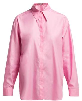 Stella McCartney Oversized Organic Cotton Shirt - Womens - Light Pink