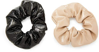 Avenue Set Of 2 Patent Leather Scrunchies