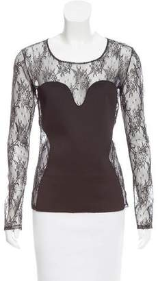 Amen Lace Neoprene-Accented Top w/ Tags