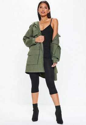 Missguided Tall Khaki Oversized Utility Jacket