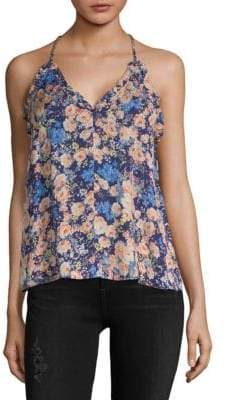 Rebecca Taylor Gigi Floral Silk Camisole
