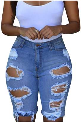 3f51353b397 at Amazon Canada · newrong Women s Casual Destroyed Jeans Shorts S