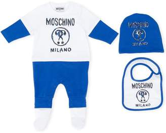 Moschino Kids logo pajama set