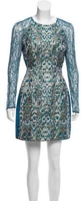 Matthew Williamson Jacquard Mini Dress