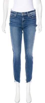 Paige Raw-Edge Skinny Jeans