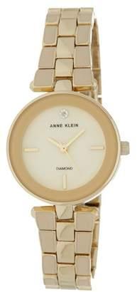 Anne Klein Women's Round Case Gold-Tone Bracelet Watch, 28mm