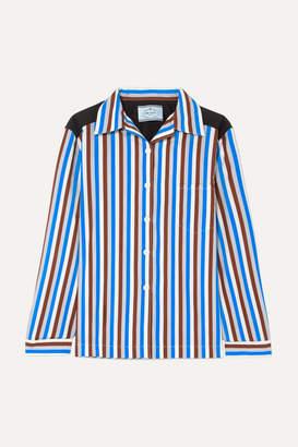 Prada Striped Cotton-poplin Shirt - Blue
