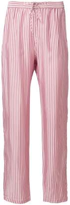 Humanoid striped drawstring trousers