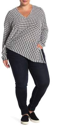 RDI Knot Tie Long Sleeve Sweater (Plus Size)