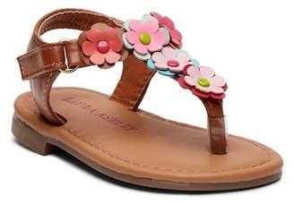 Laura Ashley Floral Applique Sandal (Baby)