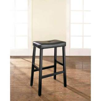 """Crosley Generic Furniture Upholstered Saddle Seat Bar Stool with 29"""" Seat Height, 2pk"""