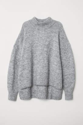 H&M Mock Turtleneck Sweater - Gray